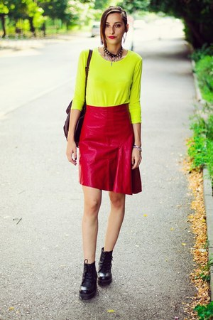 Front Row Shop skirt - neon basic Front Row Shop shirt
