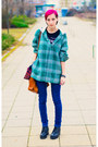 Plaid-hooded-second-hand-shirt-nowistyle-bracelet