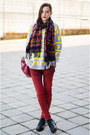 New-yorker-jeans-nowistyle-sweater-aztec-nowistyle-scarf