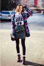 Snapmade-t-shirt-aztec-h-m-cardigan-leather-second-hand-skirt