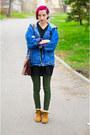 Mustard-boots-deichmann-boots-oversize-second-hand-jacket
