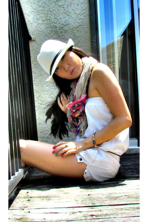 ivory Forever 21 hat - ivory pull&bear jumper