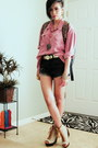 Black-oasap-bag-black-dip-dyed-guess-shorts-gold-gold-pannels-thrifted-belt
