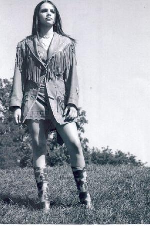 brown vintage jacket - red vintage slip dress - rubber vintage boots
