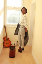 H&M pants - new look jacket - Zara blouse