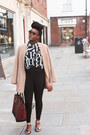 Black-topshop-leggings-tan-h-m-blazer-crimson-zara-bag