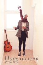 new look jacket - Dr Martens boots - H&M leggings - new look scarf