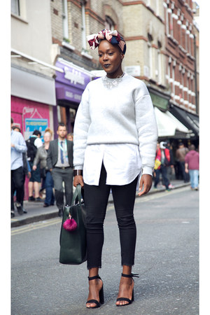 & other stories sweatshirt - H&M jeans - H&M shirt - Zara bag