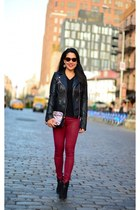 Carlos boots - Rich and Skinny jeans - Zara jacket - Rebecca Minkoff bag