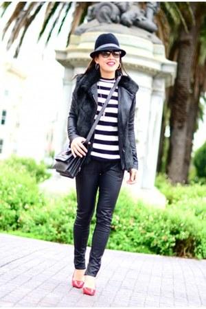 Zara sweater - BLANKNYC jacket - Alice and Olivia pumps