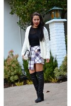 Three Floor skirt - H & M cardigan