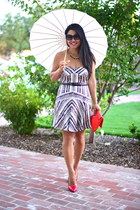 strapless print Twelfth St by Cynthia Vincent dress - red melie bianco purse