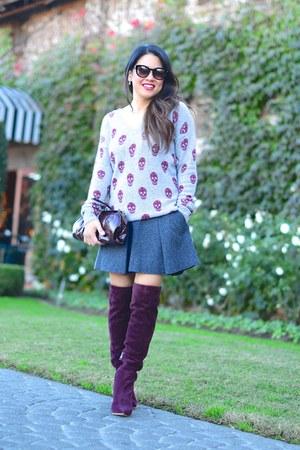 Skull Cashmere sweater - vince skirt