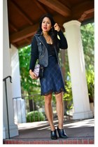 wedge booties Kenneth Cole boots - plaid  lace Zara dress