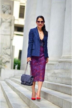 vince blazer - Zara skirt