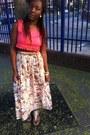 Crop-vintage-top-maxi-skirt-vintage-skirt