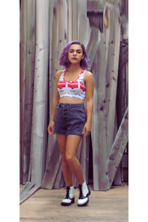 Forever 21 top - asos boots - Urban Outfitters shorts