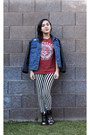 Blue-urban-outfitters-jacket-silver-amazon-boots