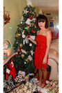 Red-f21-dress-off-white-icing-accessories-heather-gray-claires-accessories