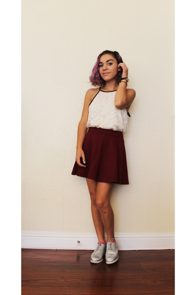 TJ Maxx top - Forever 21 skirt - asos loafers