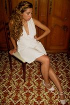 beige HM Trend dress - pink new look shoes