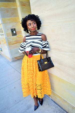 yellow new york skirt