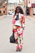 hot pink floral print ted baker pants