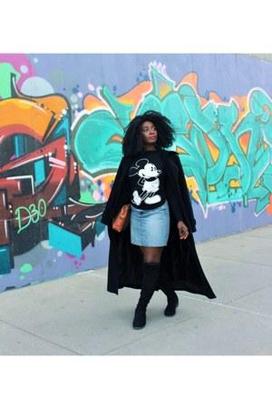 blue Levis skirt - long wool coat Ralph Lauren coat