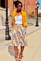orange zigzag Sugarlips Apparel skirt
