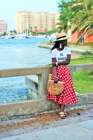 red gingham asos skirt