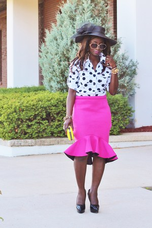 hot pink Choies skirt