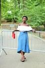 Blue-wrap-gap-skirt