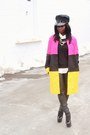 Hot-pink-color-block-princess-coat-black-jcrew-sweater