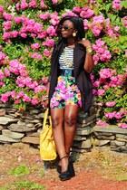 bubble gum Tracy Evans shorts - black Topshop wedges