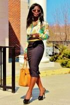 aquamarine scarf shirt Zara shirt - tawny tillary Jcrew bag