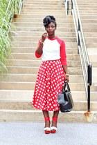 red gingham asos skirt - red baseball American Apparel shirt