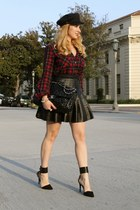 black BCBG skirt - Zara shoes - black Chanel bag