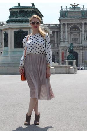 Topshop skirt - Zara blouse