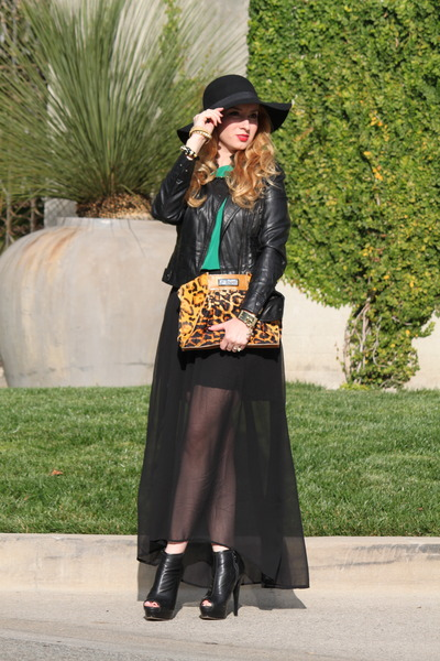 Just Cavalli bag - Topshop hat - BCBG jacket - asos bracelet