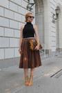 Brown-roberto-cavalli-bag-black-american-apparel-blouse