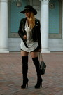 Black-zara-jacket-dark-gray-chanel-bag