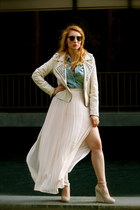 ivory Jeffrey Campbell shoes - ivory Ray Ban sunglasses