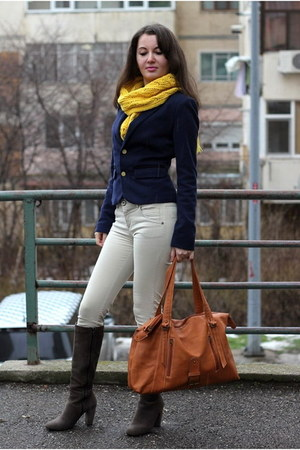 cotton Bershka blazer - suede leather Leonardo boots - leather Inex bag