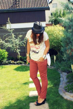 moustache prettysucks t-shirt - Vero Moda jeans