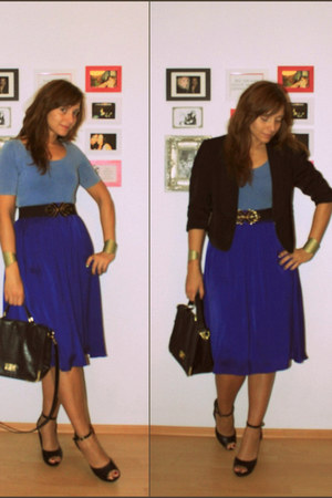 blue H&M skirt - black Vero Moda blazer
