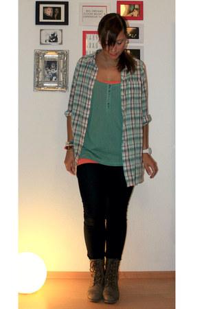 H&M blouse - H&M jeans