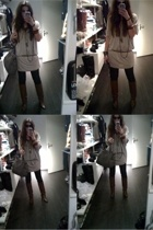 Vero Moda vest - Zara dress - Miss Sixty jeans - vintage boots