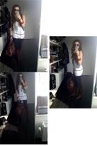 Vero Moda top - H&M vest - Zara jeans - vintage boots - InVito purse
