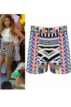 FDAvenue J lo Festival Funky Aztec Tribal Shorts