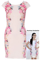 FDAvenue Kourtney Floral Panel Bodycon Dress